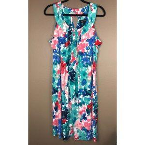 LANE BRYANT | Floral Pastel Bright Dress 14 16